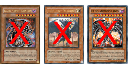 And it's not just powerful Dragons. Thunder King Ra-Oh can also negate the Summon of XX-Saber Faultroll, Chaos Sorcerer, and a slew of other powerful monsters including all Synchro Monsters.