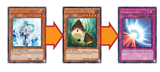 Negate Naturia Bamboo Shoot's effect, then destroy it with your Spells and Traps!