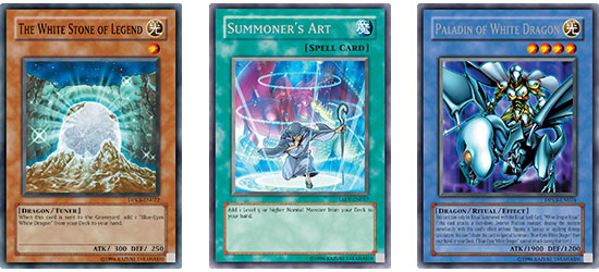 These cards will help you to quickly find and Summon your Blue-Eyes.