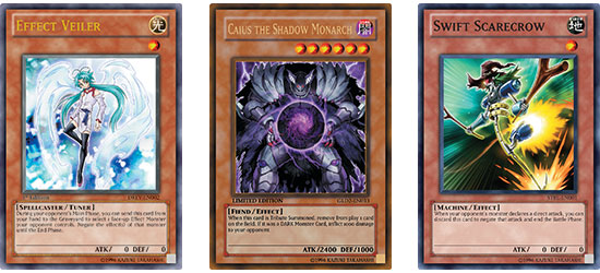 Effect Veiler then Caius the Shadow Monarch then Swift Scarecrow