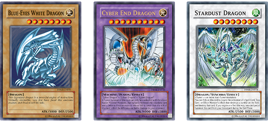 Check out some of the strongest Dragons in history! (Okay, so Cyber End Dragon isn't a dragon. But it looks and sounds like one!)