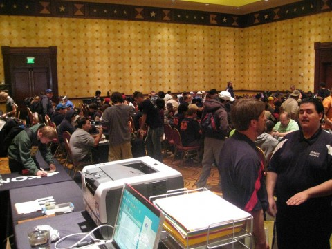 Tournament Floor of SJC Austin, before Round 1