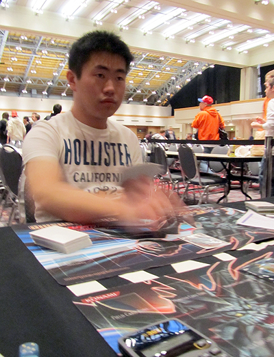 Huang's constant stream of monster removal stops Burrows from setting anything up in Duel 1.
