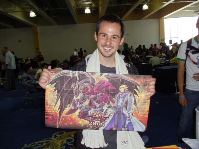 Saul Elizondo chose the Jack and Red Dragon Archfiend mat because he thinks that everyone will have the Akiza and Black Rose Dragon mat.  We brought all kinds so that the winners could choose the mat they wanted!