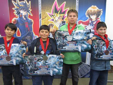 Darien Sanchez (from left, 3rd place), Said Barrios (winner), Christopher Borbon (2nd place), Juan Jimenez (4th place)
