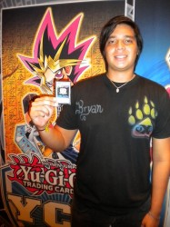 Bryan Cornejo (Ecuador) was one of the first to receive the YCS Token Card.