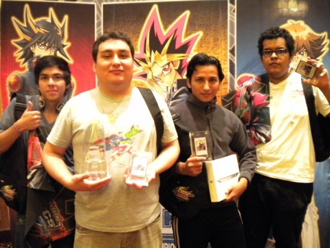Left to right: 4th Place: Jonathan Ruiz (Ecuador), 1st Place: Hector Delgado (Peru), 2nd Place: Jorge Garcia (Ecuador), 3rd Place: Gerardo Delgado (Peru)