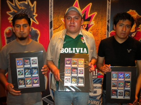 Left to right: Franco Jimenez (Bolivia), Luis Torres (Bolivia), Ariel Quispe (Bolivia)