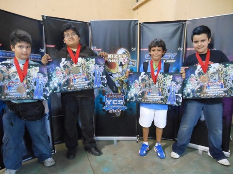 (Left to Right) Hugo Escobar (3rd - Guatemala - Blackwings), Gabriel Canas (1st - Guatemala - Dragons), Alex Miller (2nd - Guatemala - Hieratics), Klaus Rottmann (4th - Guatemala - HEROs)