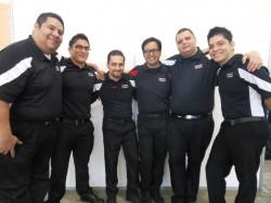 (Left to Right) Fabricio Gil [Ecuador], Erik Liera [Mexico], Horacio Pina [Mexico], Israel Sanchez [Mexico - Head Judge], Andrey Avila [Costa Rica], Orell Olivares [Nicaragua]