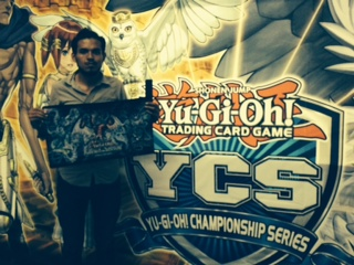 Roberto Delgado, winner of Cyber Dragon Revolution Structure Deck Tournament