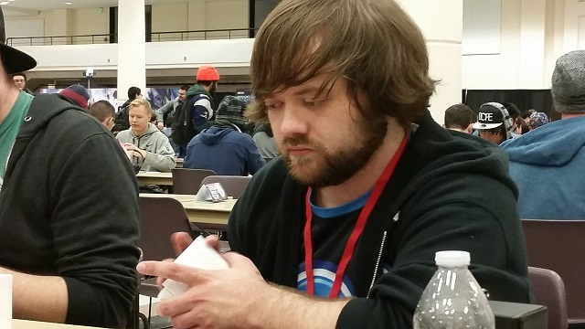 Billy Brake comtemplating the meaning of Yu-Gi-Oh